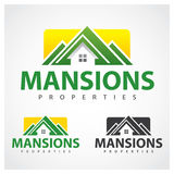Properties Symbol. Mansions properties logo design template Stock Photo
