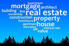 Property. Concept image about important topics regarding real estate, property, construction and mortgage Royalty Free Stock Photo