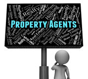 Property Agents Indicates Real Estate And Homes Royalty Free Stock Photos