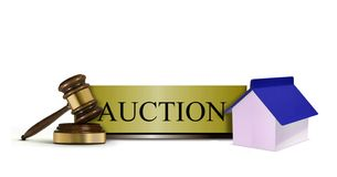 Property Auction Sign Stock Photography