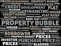 PROPERTY BUBBLE - image with words associated with the topic PROPERTY BUBBLE, word, image, illustration Stock Photo