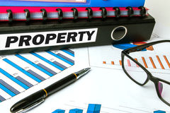 Property on business folder Royalty Free Stock Images