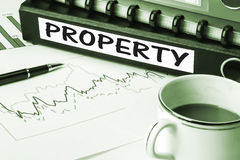 Property on business folder Stock Photo