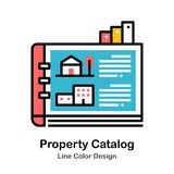 Property Catalog Line Color Icon. Property Catalog Icon In Line Color Design Vector Illustration royalty free illustration