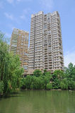 Property in Chengdu,China. Lots of new modern housings are built in cities of China stock images