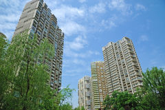 Property in Chengdu,China. Lots of new modern housings are built in cities of China stock photos