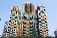 Property in Chengdu,China. Lots of new modern housings are built in cities of China royalty free stock photo