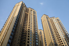 Property in China. Lots of new modern housings are built in cities of China stock photography