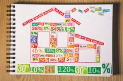 PROPERTY collage. Made up of cut figures Stock Images
