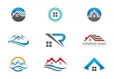 Property and Construction Logo design for business corporate sig. Real Estate , Property and Construction Logo design for business corporate sign . Vector Logo Royalty Free Stock Photography