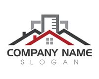 Property and Construction Logo design. Real Estate , Property and Construction Logo design for business corporate sign . Vector Logo Royalty Free Stock Images