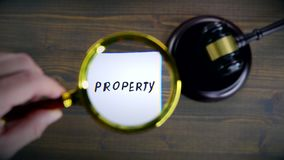 Property. Court Judgment, Dispute, Auction and Contract concept