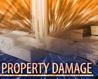 Property damage Abstract concept digital illustration Stock Photo