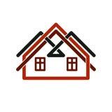 Property developer stylish estate agency vector symbol. Creative Royalty Free Stock Photo