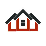 Property developer stylish icon, estate agency corporate symbol. Stock Photography