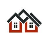 Property developer stylish icon, estate agency corporate symbol. Stock Photos
