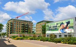 Property development. LONDON, UK - JULY 9, 2014: New development property in Kidbrooke village in South-East London Stock Photography