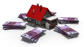 Property expenses. 3D render image representing house expenses Stock Photos