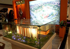 Property expo. Property exhibition held in an atrium mall in the city of Solo Stock Image