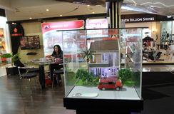 Property expo. Property exhibition held in an atrium mall in the city of Solo Royalty Free Stock Photo