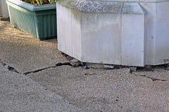 Property foundation damage Stock Image