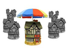 Property home protected by parasol umbrella royalty free stock images