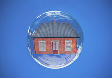 Property house bubble Royalty Free Stock Photo