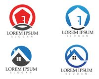 Property house and home logos template vector.  Royalty Free Stock Images
