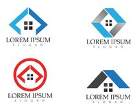 Property house and home logos template vector.  Royalty Free Stock Photography