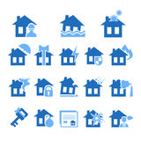 Property and House Insurance Icon Set. Vector Stock Images
