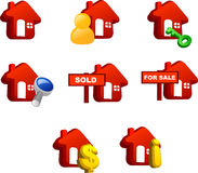 Property icon Royalty Free Stock Photos