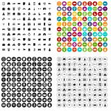 100 property icons set vector variant. 100 property icons set vector in 4 variant for any web design isolated on white vector illustration