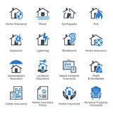 Property Insurance - Blue Series Royalty Free Stock Images