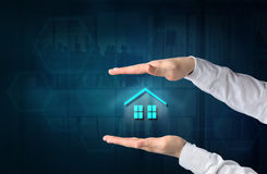 Property insurance concept. Home insurance and security concept. Royalty Free Stock Photography
