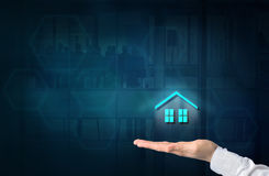 Property insurance concept. Home insurance and security concept. Royalty Free Stock Image