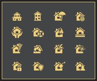 Property insurance icons Royalty Free Stock Images