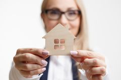 Property insurance and security concept.Real estate agent offer. House Stock Images