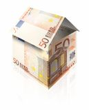 Property Investment. Property made from 50 euro note Royalty Free Stock Photos