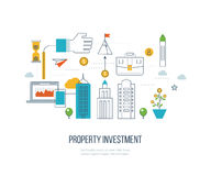 Property investment. Financial strategy concept. Property investment. Investment business. Construction and Investment. Financial strategy concept. Business Royalty Free Stock Photography