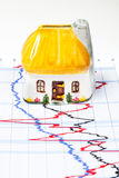 Property Investment. House and investment chart, property prices Royalty Free Stock Images