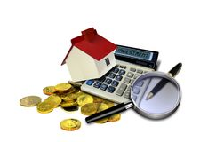Property investment. Image of property investment concept over white Stock Photography