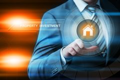 Property Investment Management Real Estate Market Internet Business Technology Concept.  Royalty Free Stock Photo
