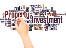 Property Investment word cloud hand writing concept. On white background royalty free stock photo