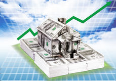 Property = investmnet. Property is investment and the price always increase Royalty Free Stock Images