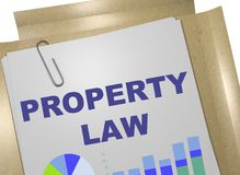 PROPERTY LAW concept. 3D illustration of PROPERTY LAW title on business document Stock Photos