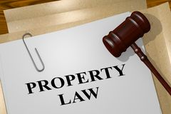 PROPERTY LAW concept. 3D illustration of PROPERTY LAW title on legal document Stock Photo