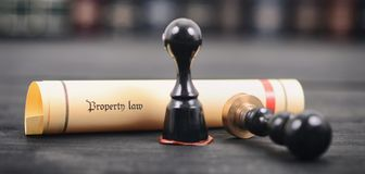 Property law , Notary seal , Legality concept, property law act Royalty Free Stock Photos