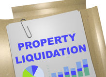 Property Liquidation - business concept Stock Photos
