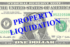 Property Liquidation concept Stock Image