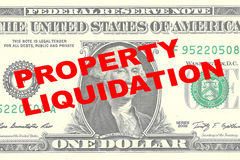 Property Liquidation concept Royalty Free Stock Photography